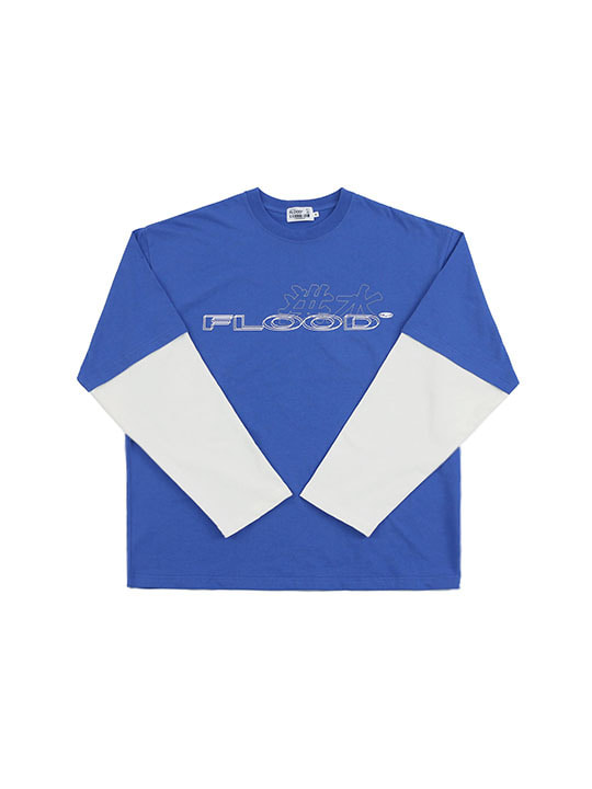 FLOOD 洪水 LOGO LONG SLEEVE / BLUE
