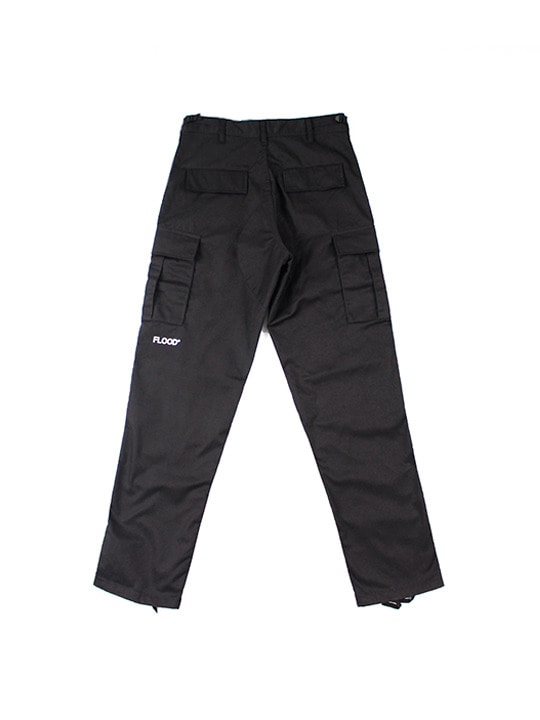 ROTHCO X FLOOD LOGO CARGO PANTS / BLACK