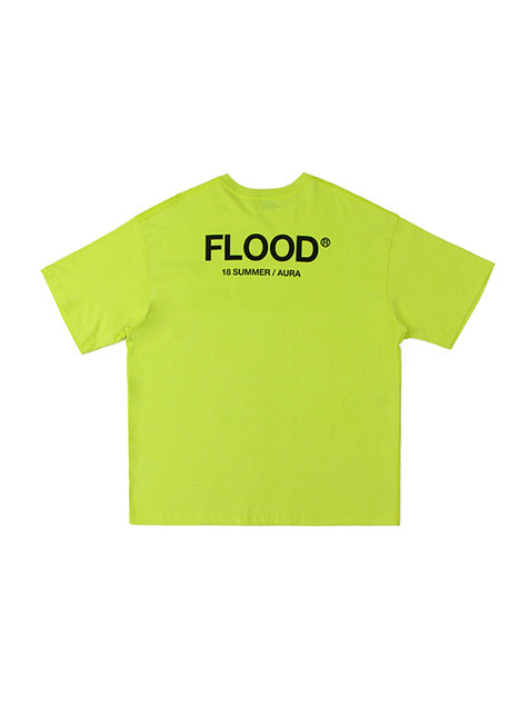 FLOOD SEASON LOGO T-SHIRTS / NEON YELLOW