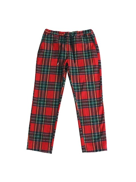 TARTAN CHECK PANTS / RED