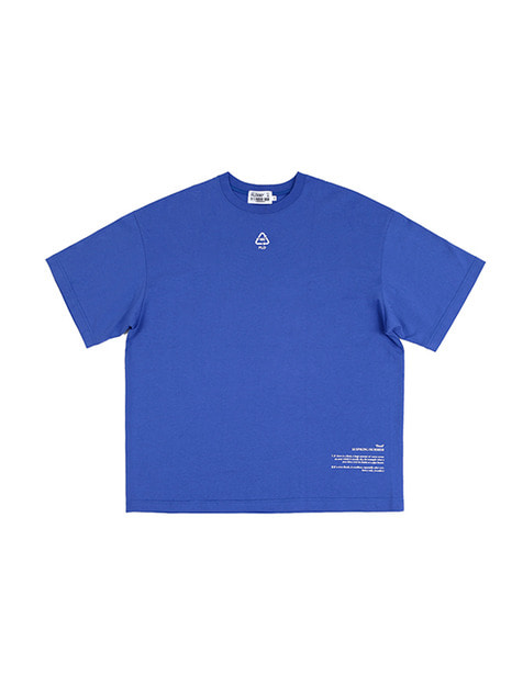 FLD RECYCLE 3M REFLECTIVE LOGO T-SHIRTS / BLUE