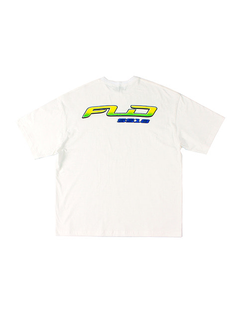 FLD SS18 RACING LOGO T-SHIRTS / OFF WHITE