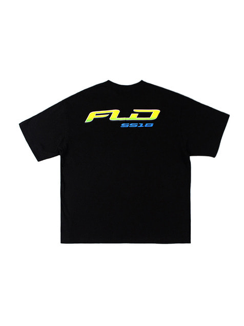 FLD SS18 RACING LOGO T-SHIRTS / BLACK