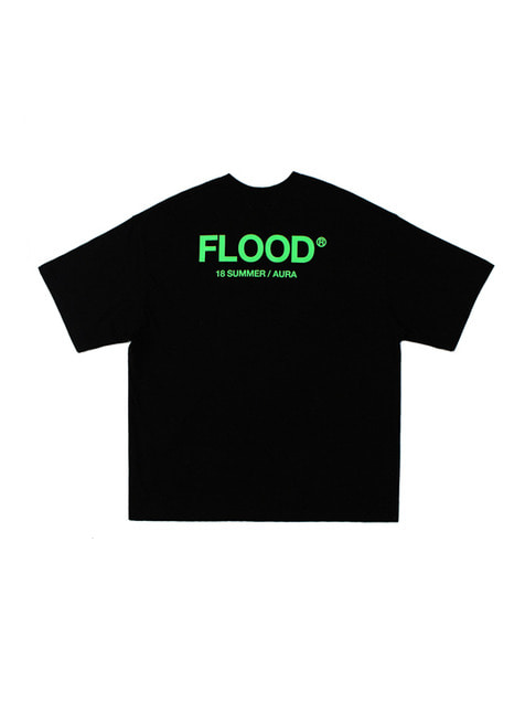 FLOOD SEASON LOGO T-SHIRTS / BLACK