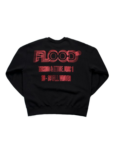 RED LAZER LOGO SWEATSHIRTS / BLACK